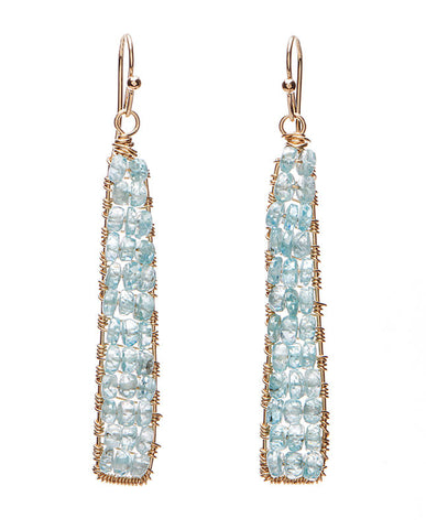 Catalina Earring with Swiss Blue Topaz