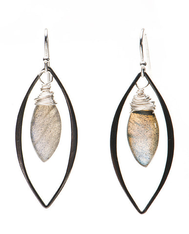Snowmass Earrings - Labradorite