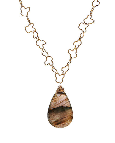 Glen Ellen Necklace - Labradorite
