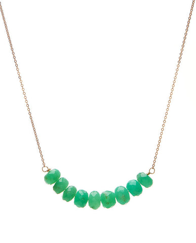 Large Bar Necklace - Chrysoprase