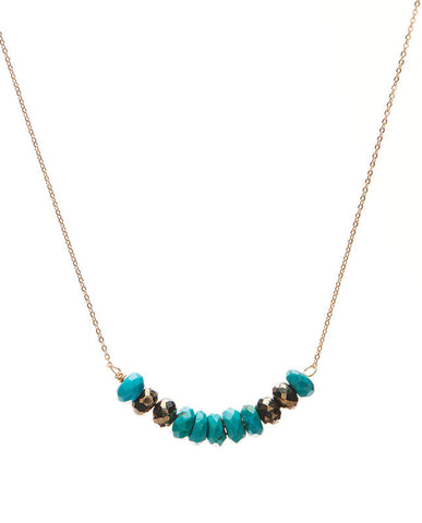Large Bar - Turquoise & Pyrite