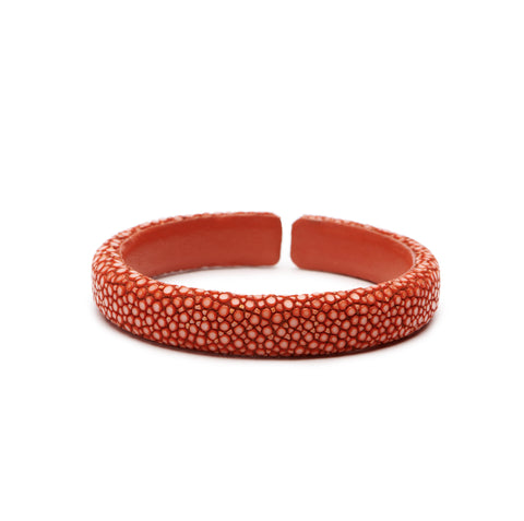 Burnt Orange Stingray Flat Cuff - 10mm