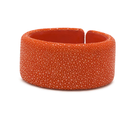 Orange Stingray Flat Cuff - 30mm
