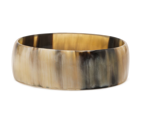 Black Creamy Horn Bangle 25mm