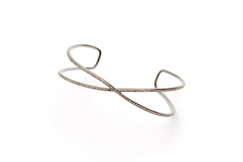 Equis Bracelet with Diamonds