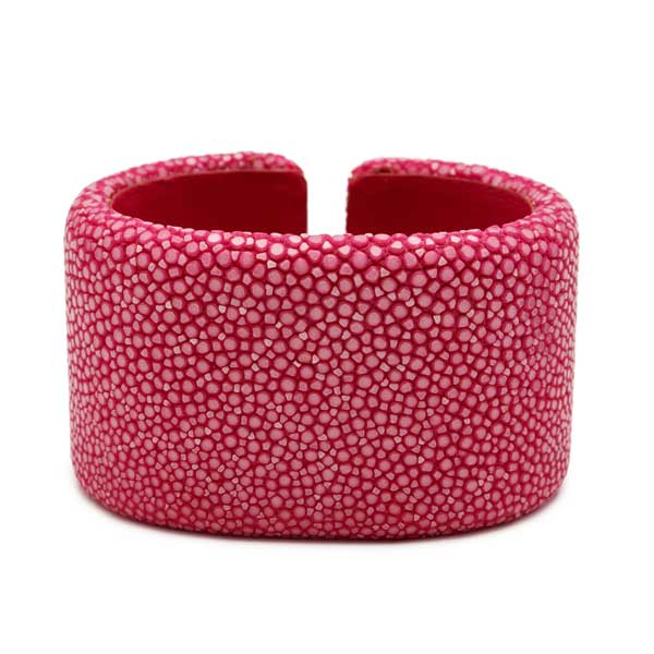 Pink Stingray Oval Cuff - 40mm
