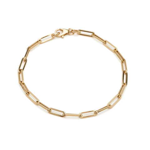 Gold Paperclip Bracelet - Small