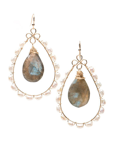 Fillmore Earrings with Labradorite