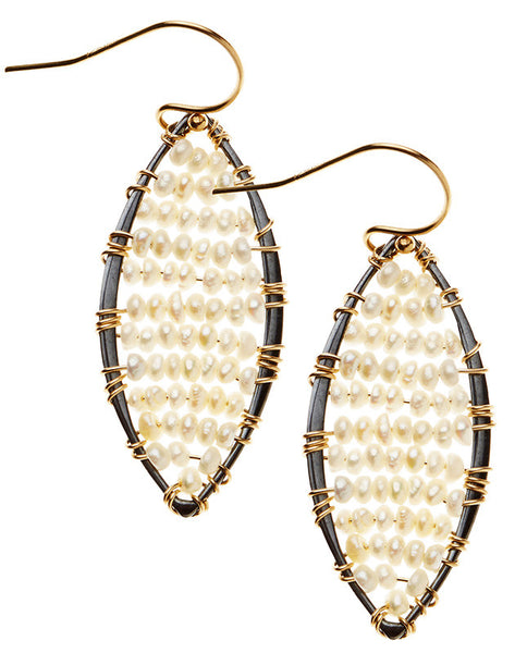 Mill Valley Earrings - Freshwater Pearl