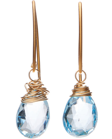Coronado Earrings - Swiss Blue Topaz