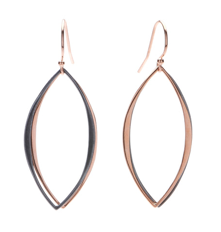 Mt. Tam Earrings - Rose Gold