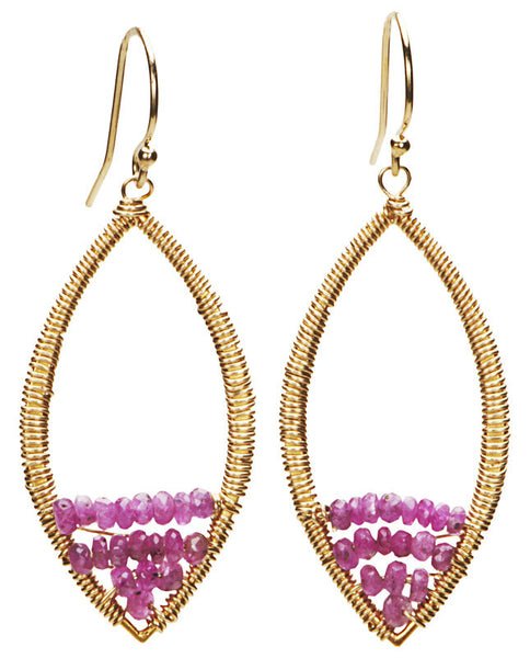 Mill Valley Earrings - Pink Sapphire