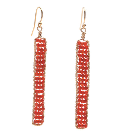 Catalina Earrings - Carnelian
