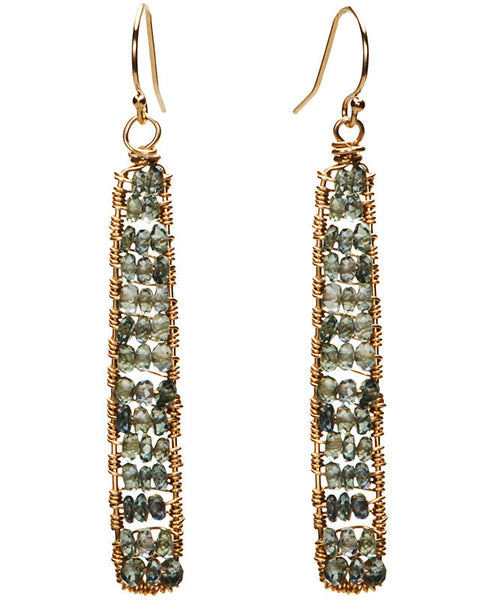 Catalina Earring - Green Sapphires