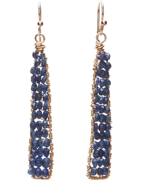 Catalina Earrings - Blue Sapphire