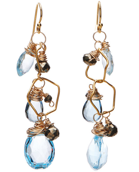 Petaluma Earrings - Blue Topaz