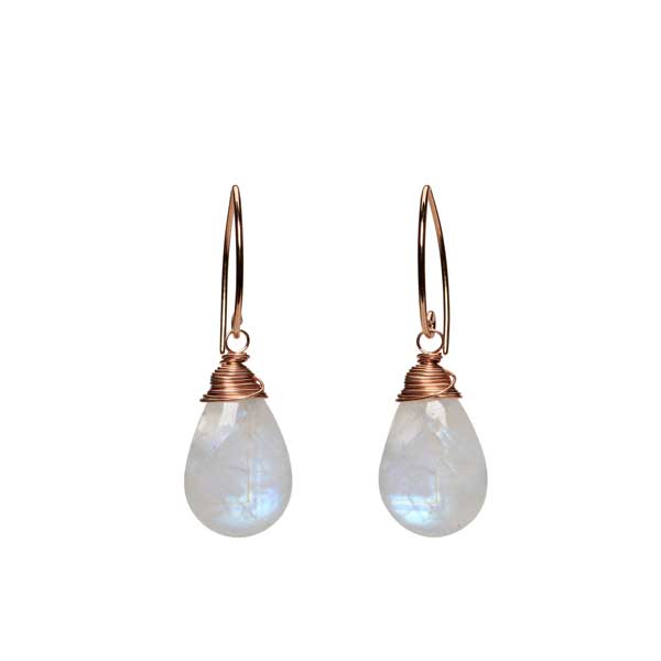 Tribeca Earrings - Rainbow Moonstone