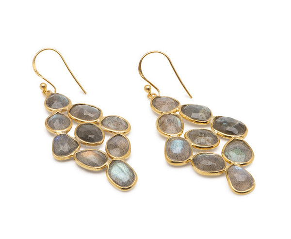 Sea Island Earrings - Labradorite