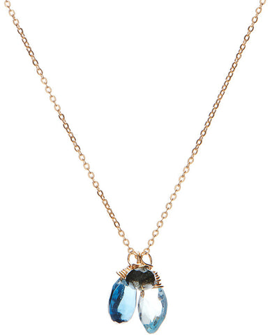 Sea Ranch Necklace - Blue Topaz