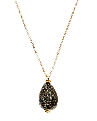 Pave Diamond Teardrop Necklace