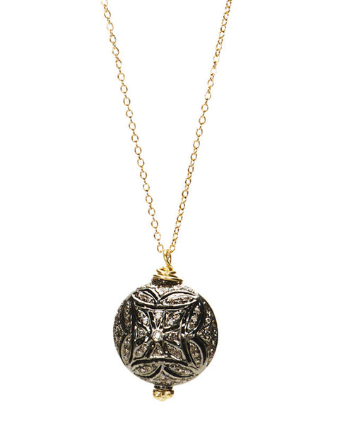 Pave Diamond Scrollwork Necklace