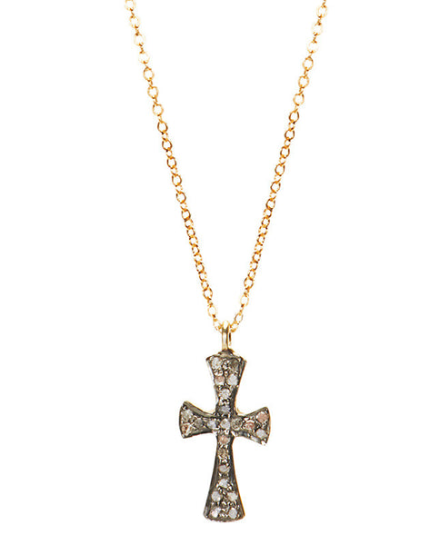 Pave Diamond Cross Necklace