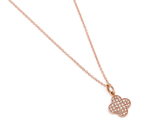Petite Diamond Alhambra Necklace