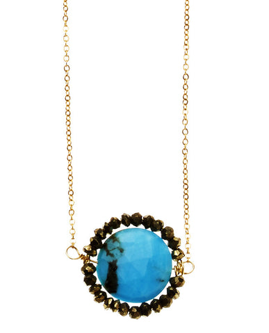 Noe Necklace - Turquoise & Pyrite
