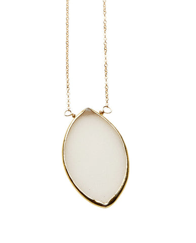 White Druzzi Marquis Necklace