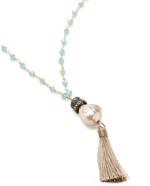 Urban Chic Diamond Necklace - Chalcedony