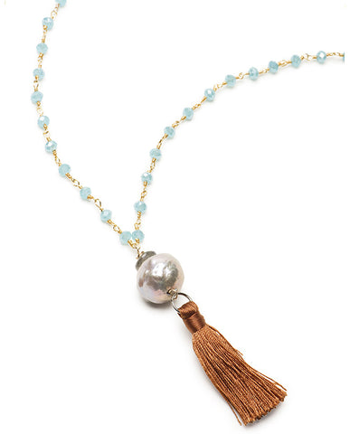 Urban Chic Necklace - Chalcedony & Pink FWP