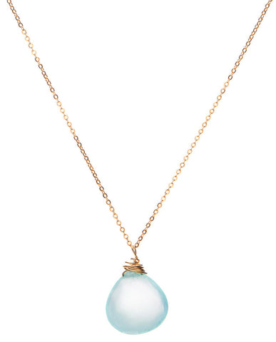 Gem Drop Necklace - Peruvian Opal