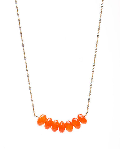 Large Bar Necklace - Carnelian