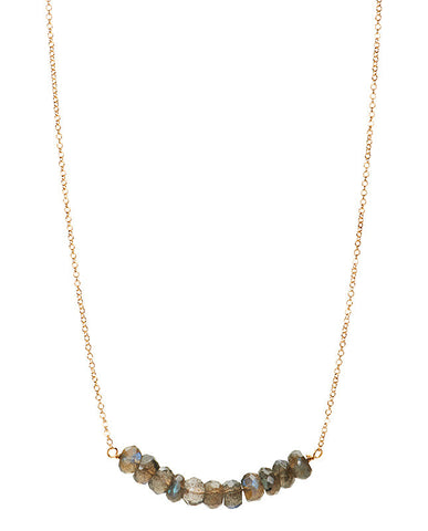 Large Bar Necklace - Labradorite