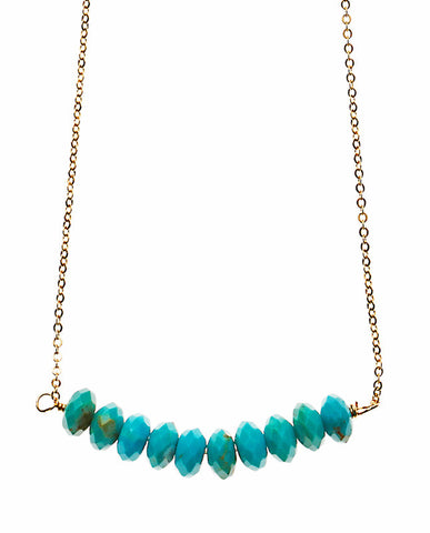 Large Bar Necklace - Sleeping Beauty Turquoise