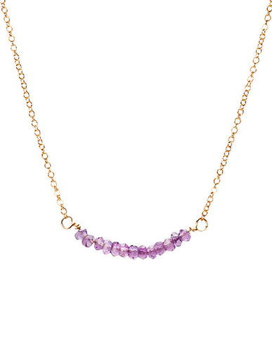 Bar Necklace - Amethyst