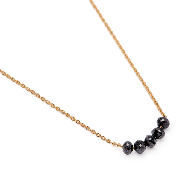 Bar Necklace - Black Diamond