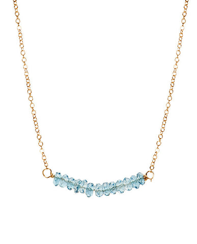 Bar Necklace - London Blue Topaz