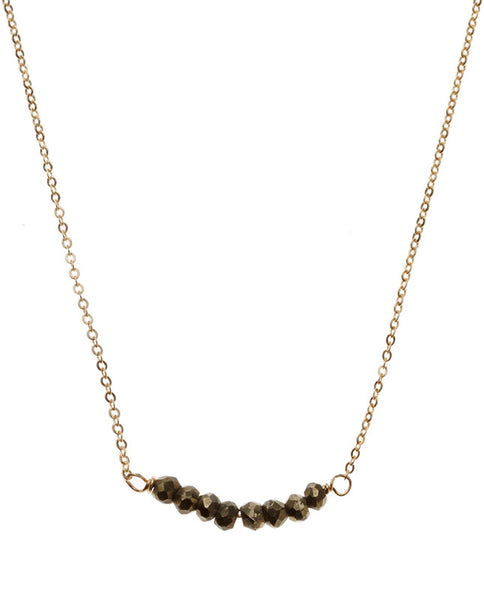 Bar Necklace - Pyrite