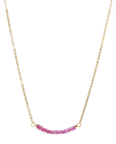 Bar Necklace - Ruby