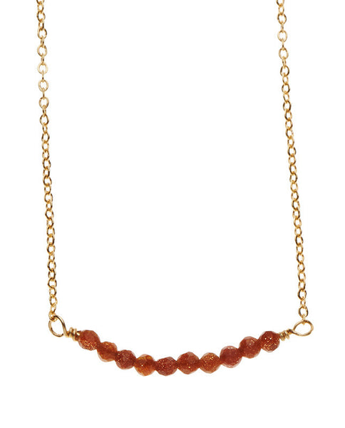 Bar Necklace - Sandstone
