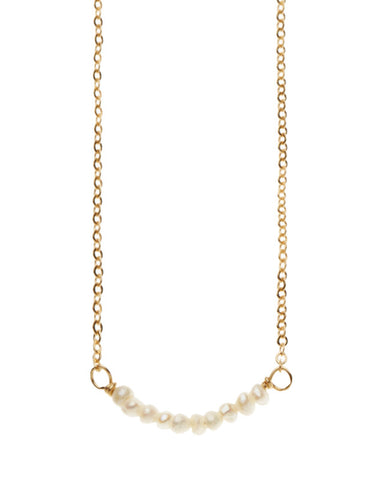 Bar Necklace - Freshwater Pearl