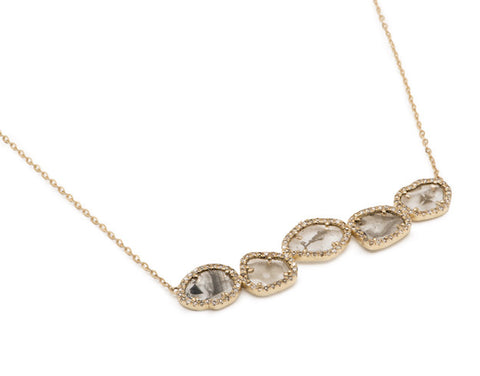 Diamond Slice Bar Necklace