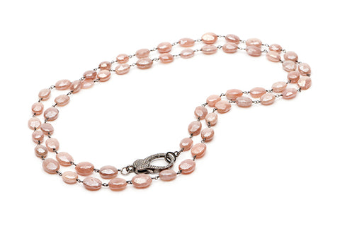 Turtle Creek Necklace - Pink Moonstone