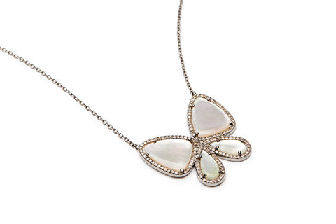 Butterfly Necklace - MOP