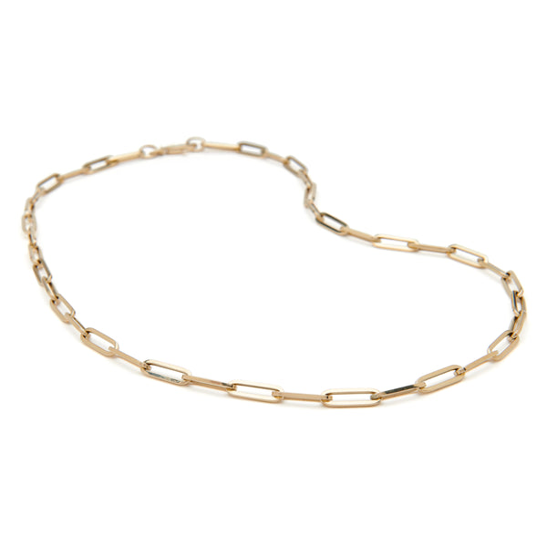 Paperclip Necklace - 14k Yellow Gold