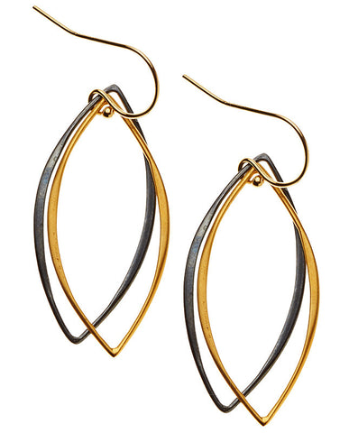 Mt. Tam Earrings - Yellow Gold