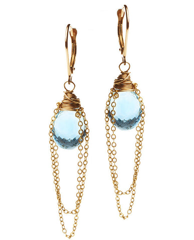 Lucky Earrings - London Blue Topaz