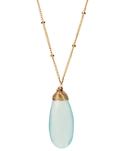Large Gem Drop Necklace - Peruvian Opal