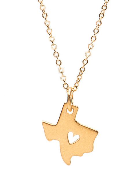 Texas State Heart Necklace